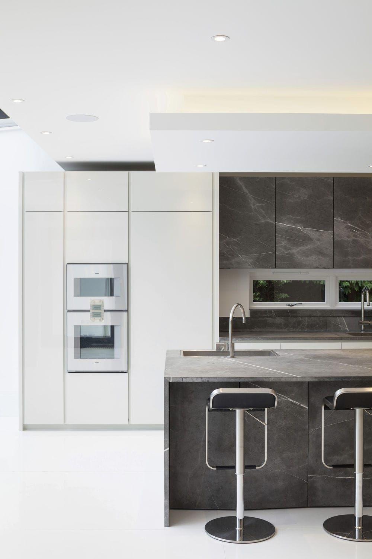 Cucina moderna / in pietra / con isola / modulare - T45 - TM ...