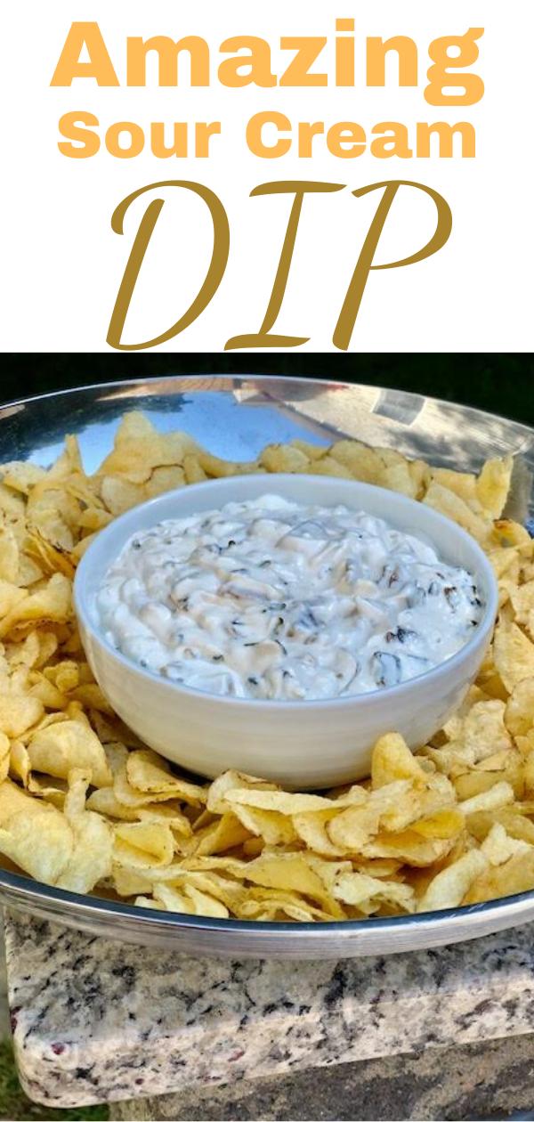 An Amazing Sour Cream Dip In 2020 Sour Cream Dip Sour Cream Homemade Sour Cream