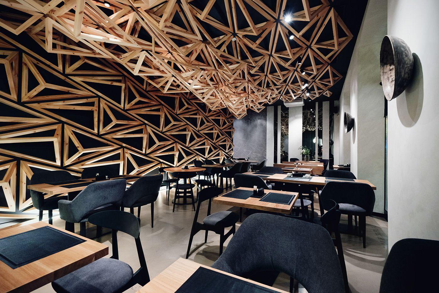 Esszimmer design bd Ознакомьтесь с этим проектом behance kido sushi bar
