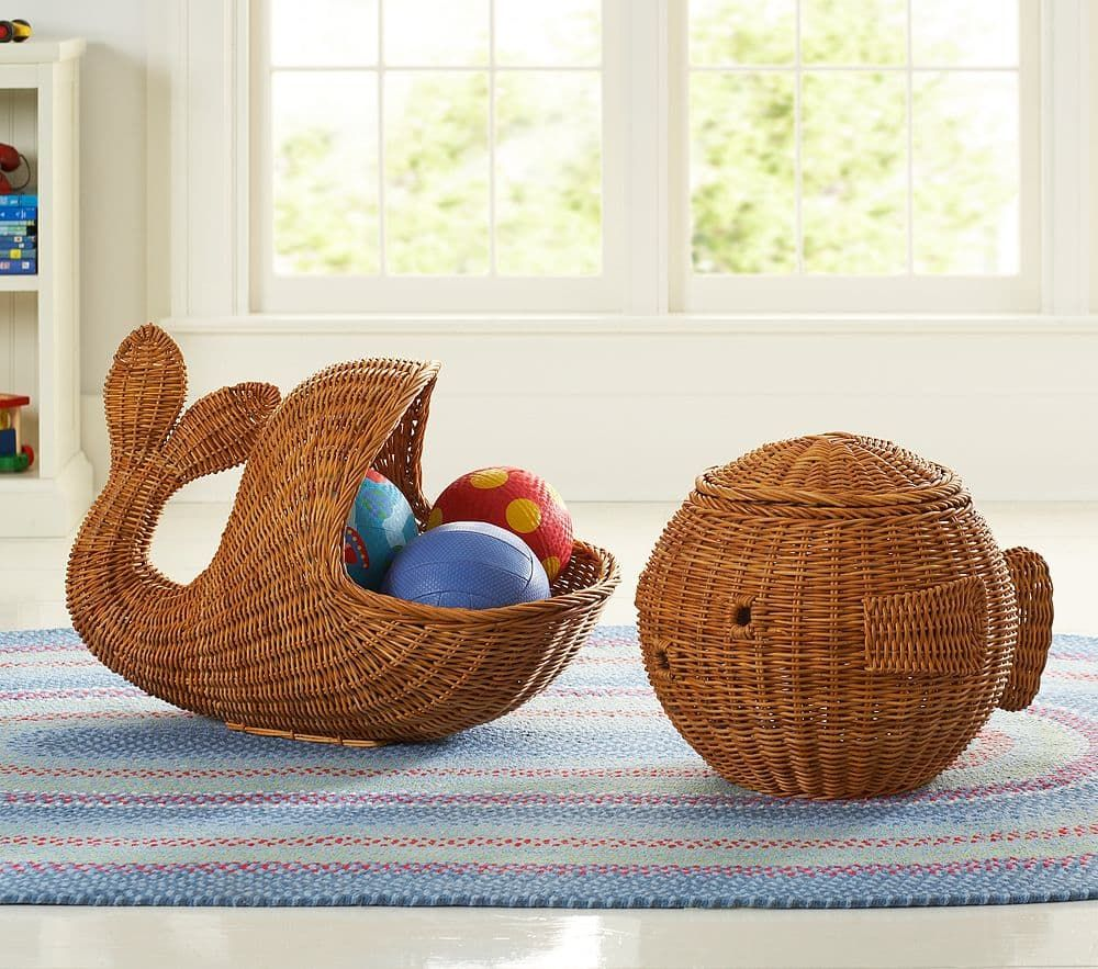 Rattan Whale And Fish Baskets Basket Rattan Rattan Basket