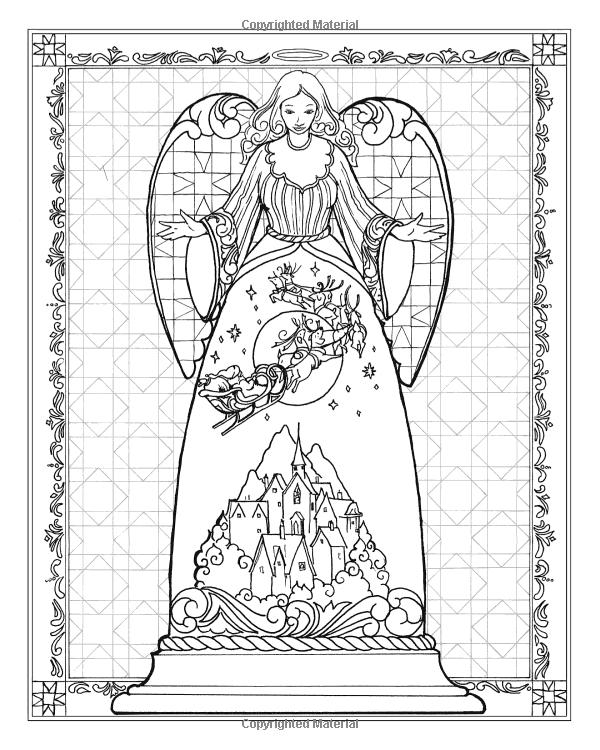 Amazon Jim Shores Angel Coloring Book 50 Glorious
