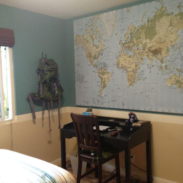 Khaels Room Boys Map Wall Hiking