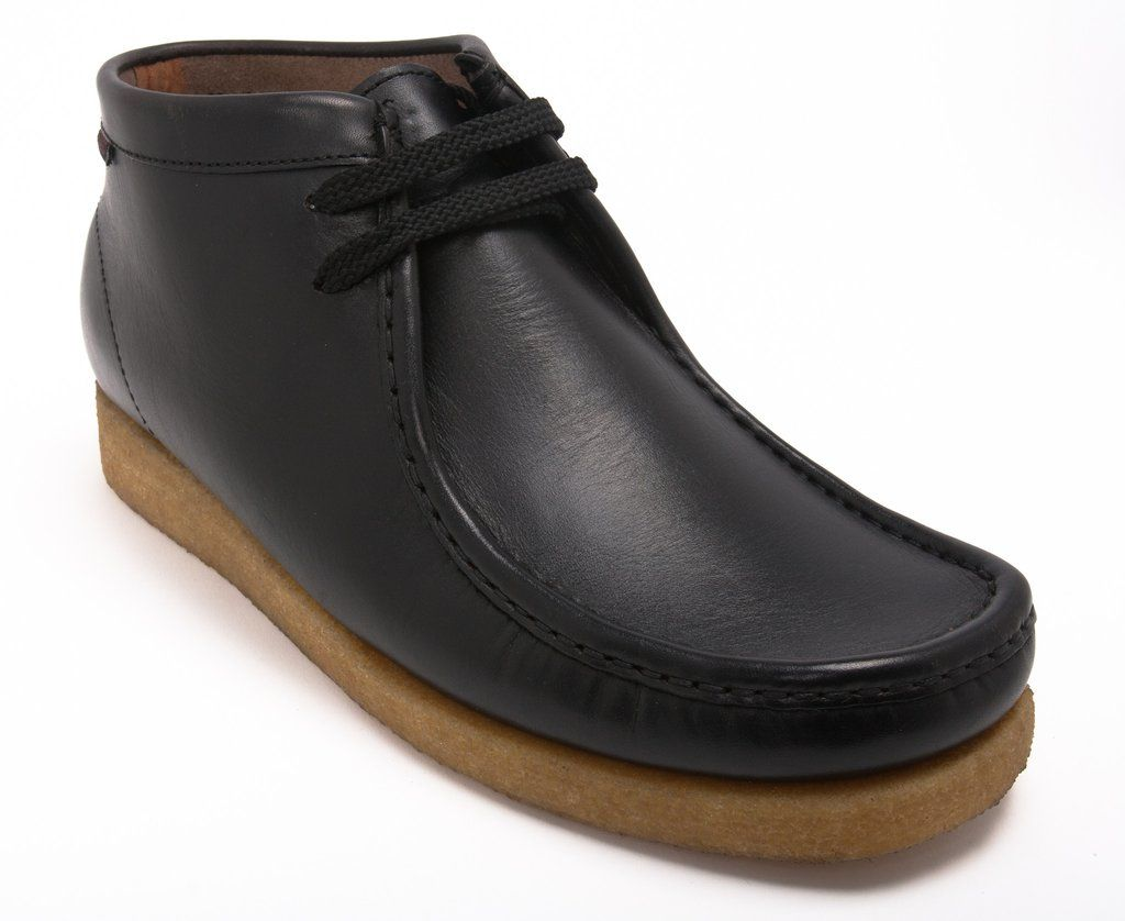 Sebago Black Leather Koala Wallabee Men s Shoes  d647fab6cfe