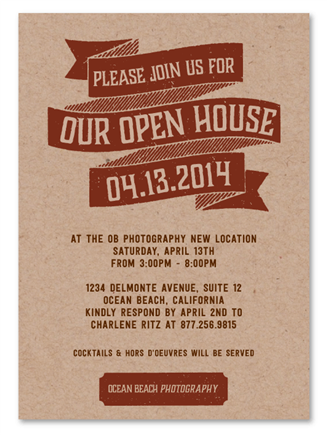 Business Event Invitations Open House By Green Business