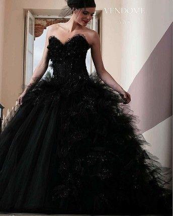 Vendome robe de mariee | Robe mariage noir,