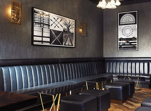 Channel Tufting On Banquette Restaurant Hotel Design