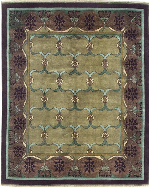Sage Green And Purple Area Rug ~ Arts U0026 Crafts Series U2013 The Lasenby PC23E