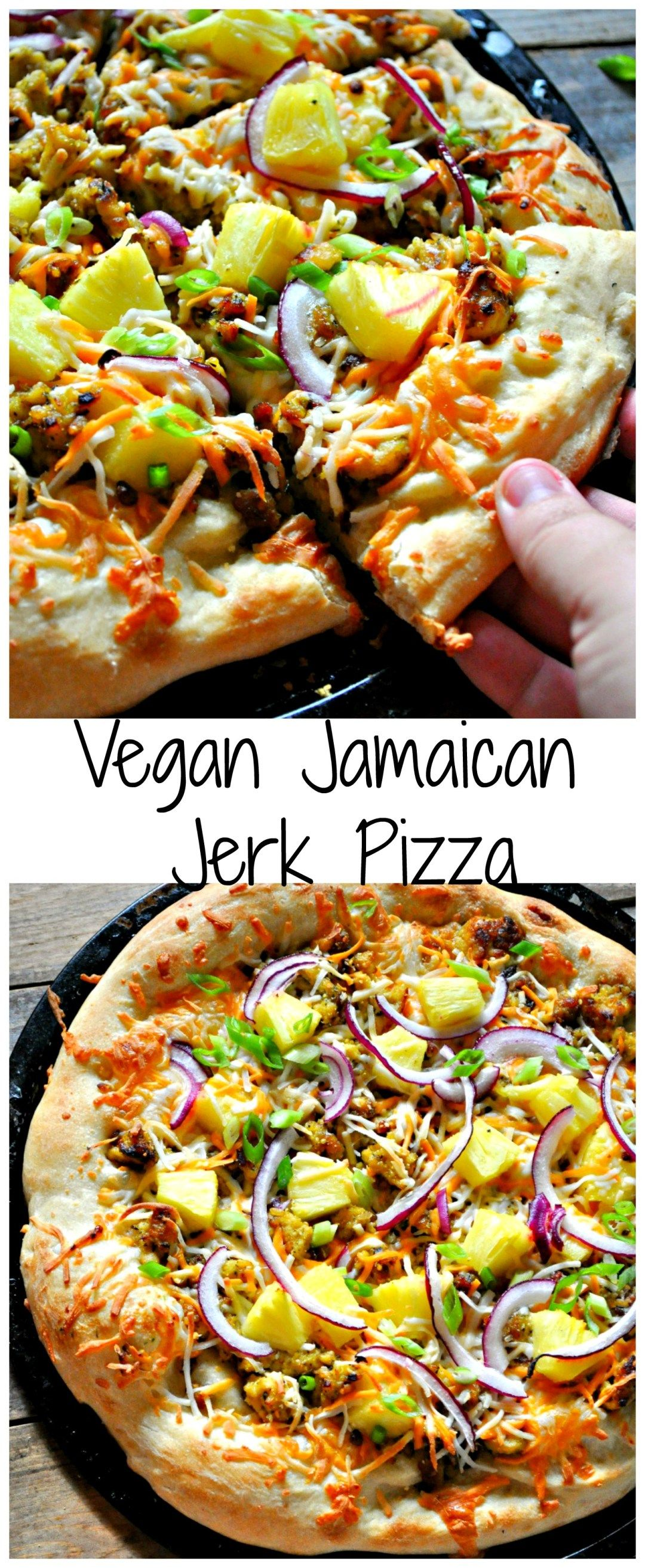 Vegan Jamaican Jerk Pizza