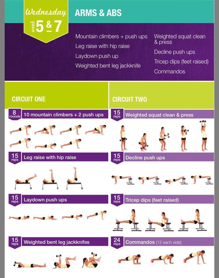 Kayla Itsines Weeks 5 7 Wednesday Kayla Itsines Bikini Body Guide Kayla Itsines Workout Kayla Workout