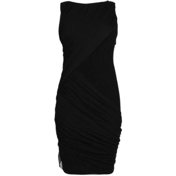 ALICE & OLIVIA Jersey and Chiffon Drape Dress found on Polyvore