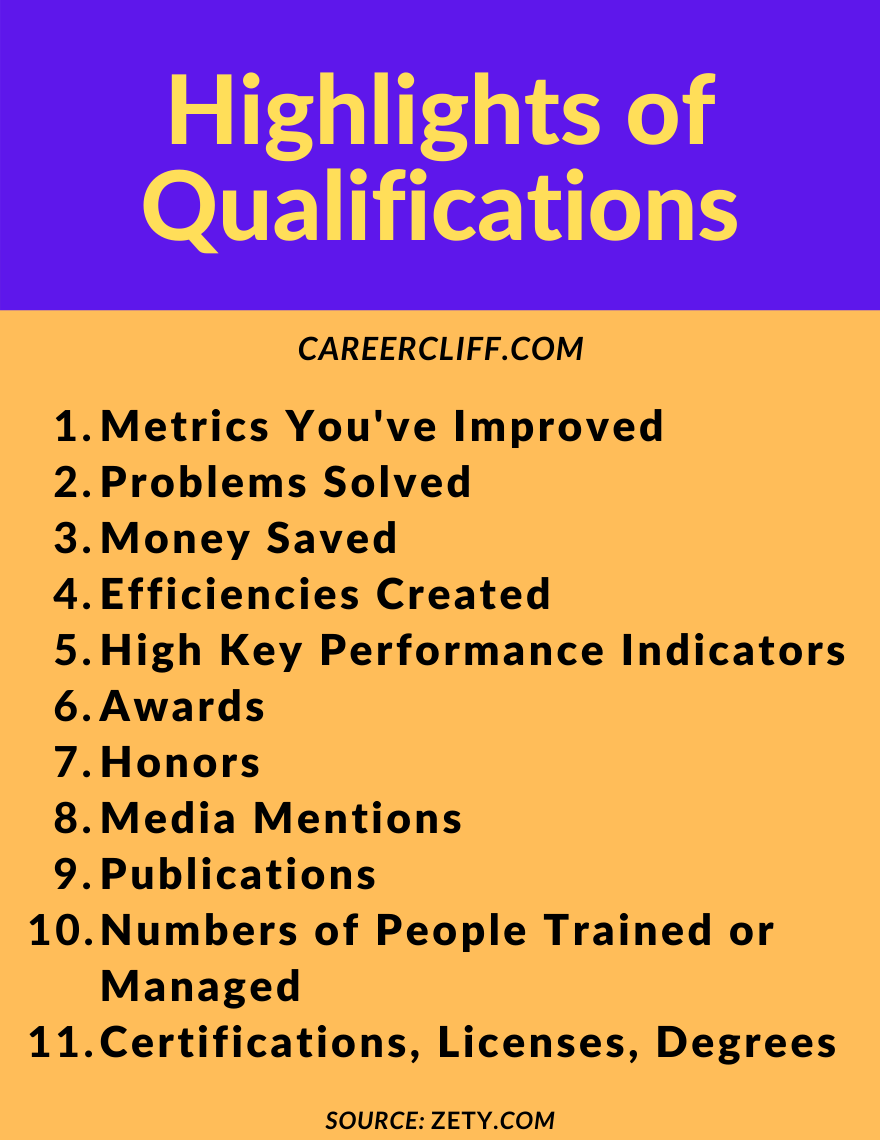 highlights of qualifications, skills and qualifications for resume, resume qualifications, list of qualifications for resume, key qualifications for resume, qualifications to put on a resume, core qualifications resume