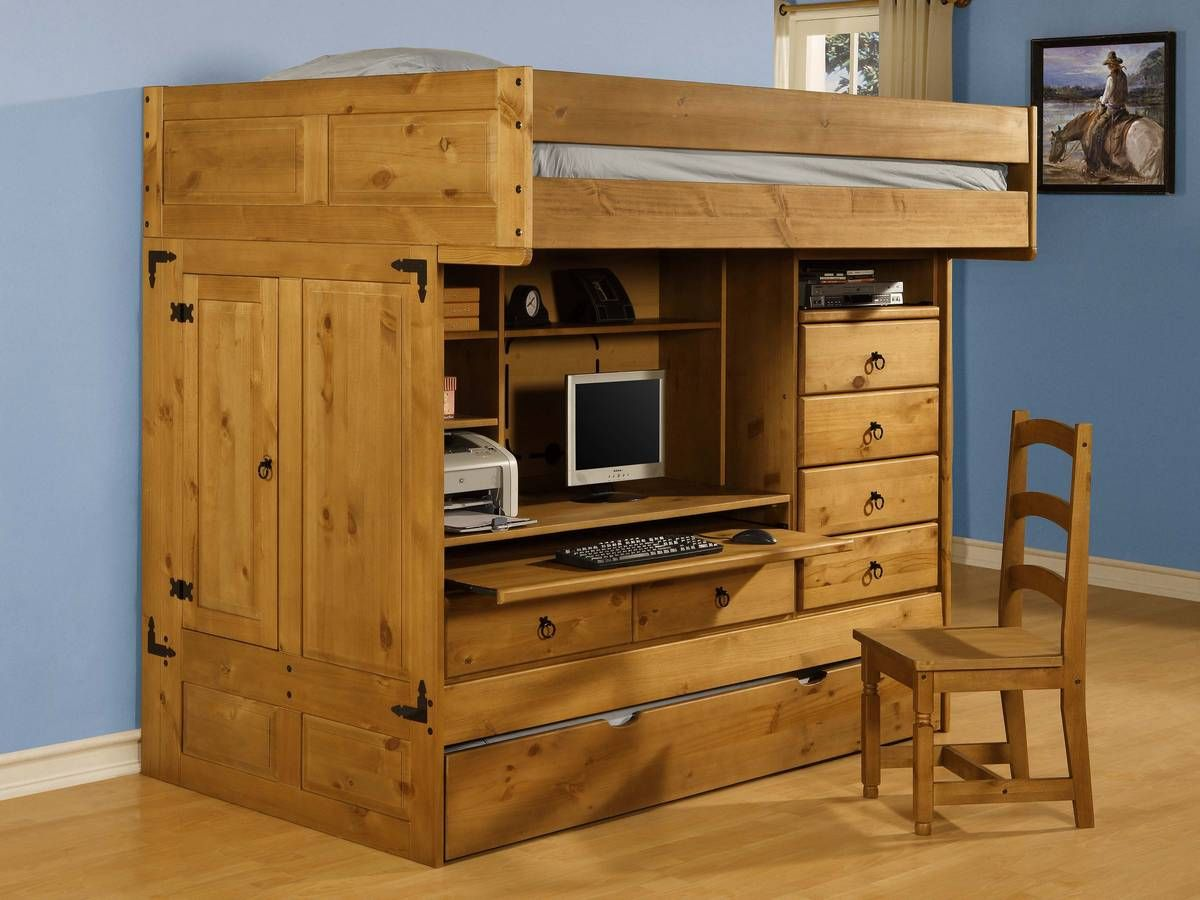 Prime Powell Rustica Full Over Twin All In One Bunk Bed With Chair Frankydiablos Diy Chair Ideas Frankydiabloscom