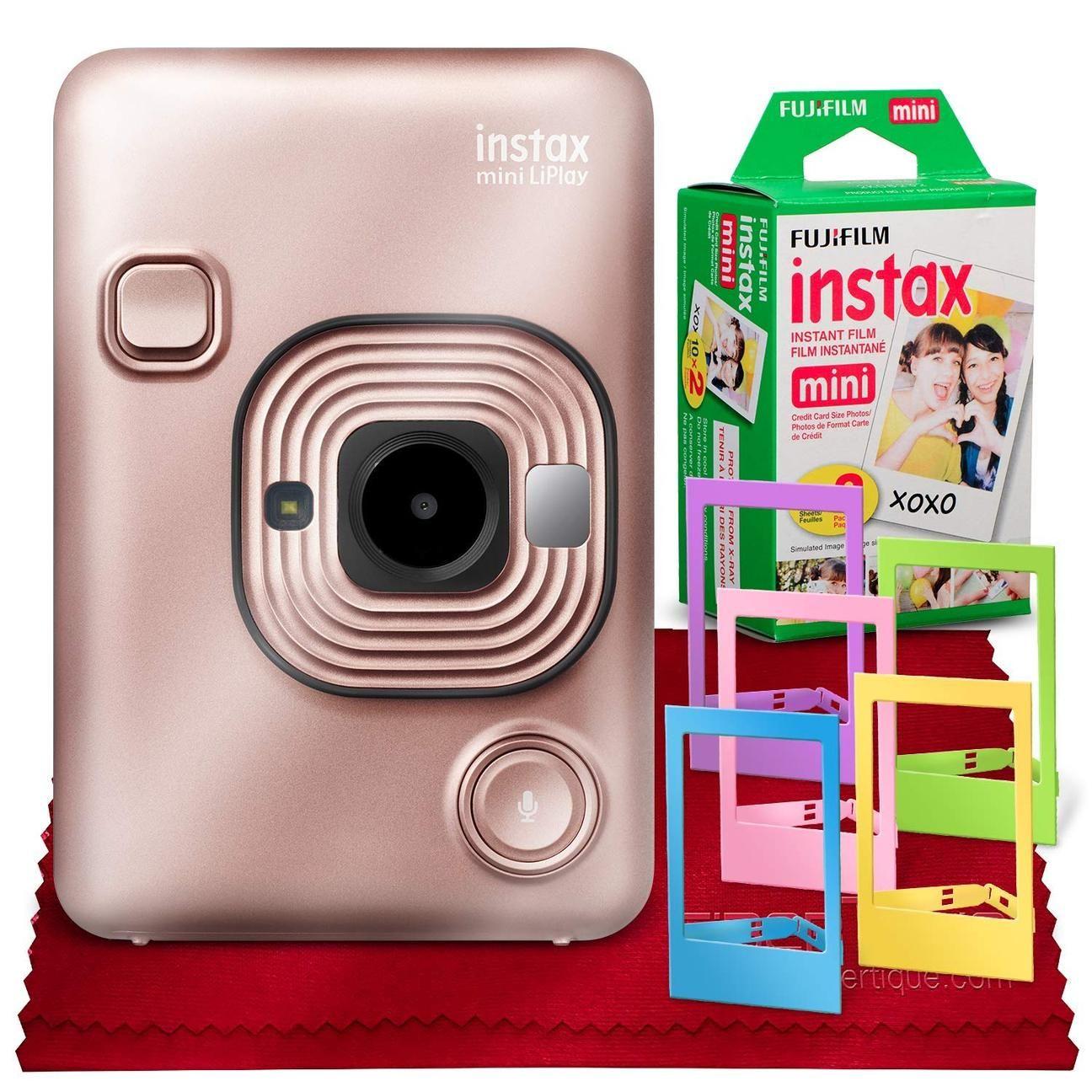 Fujifilm INSTAX Hybrid Mini LIPLAY (Blush Gold) + Fujifilm