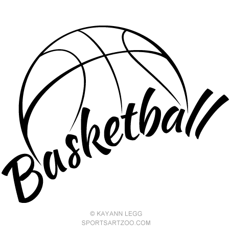 Basketball With Fun Text Basketball Design Basketball Tattoos Basketball Clipart