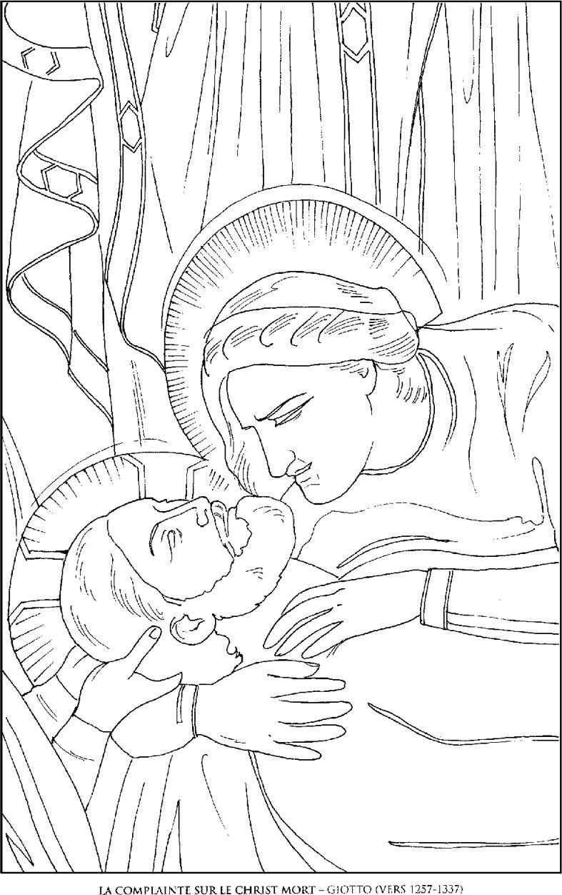 La-Complainte-sur-le-Christ_Giotto Famous paintings coloring pages ...