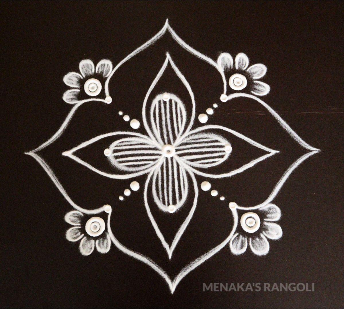 Pin by D Drury on Kolam Designs Free hand rangoli design