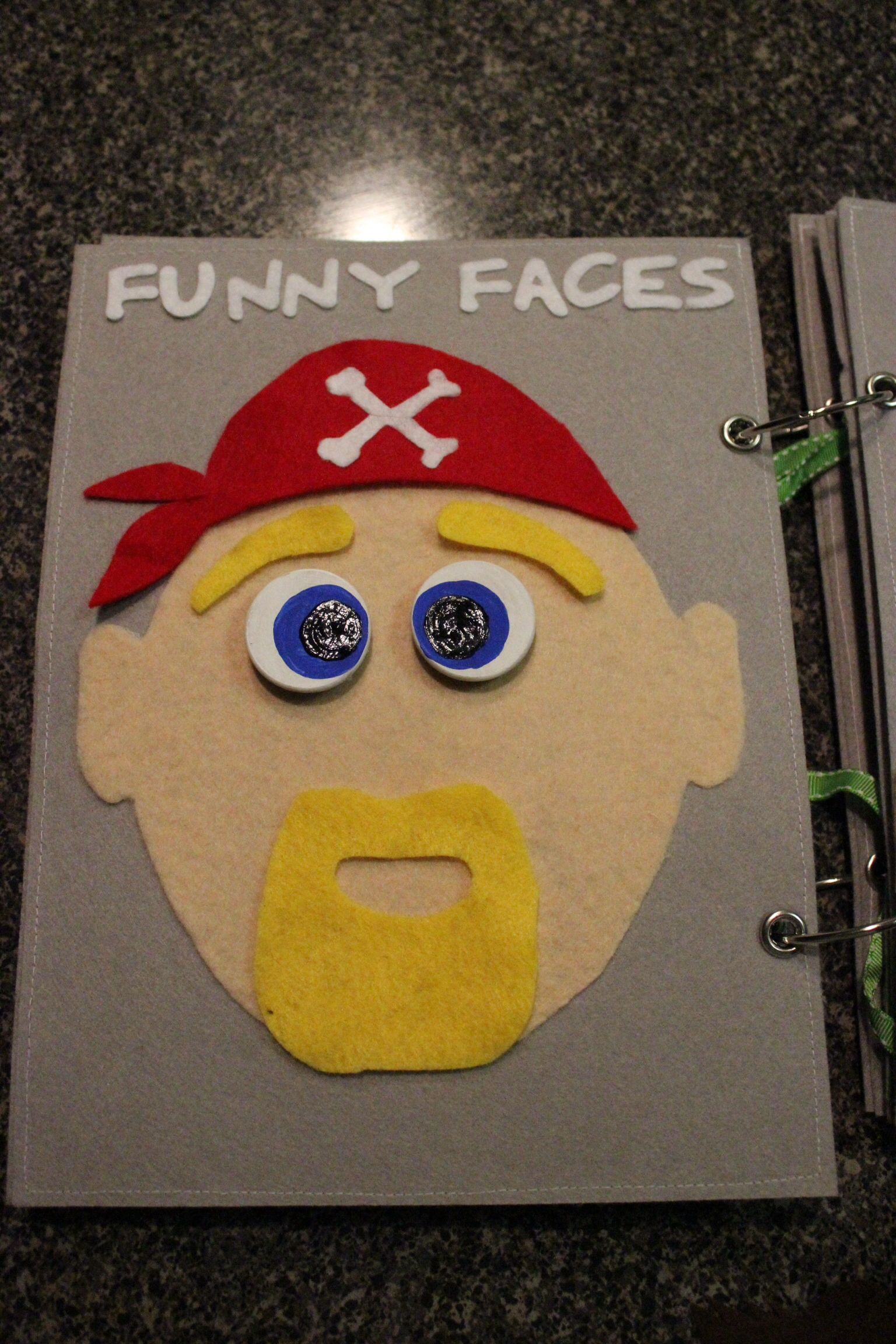 Silly faces 3 - quiet book