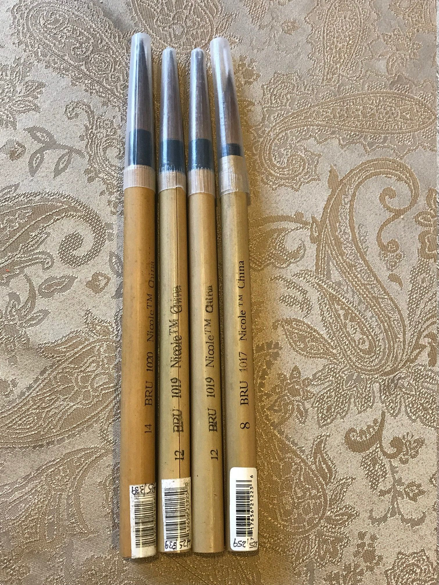 Bamboo Artist Japanese Sumi Painting Brush Set 4 Paint Brushes