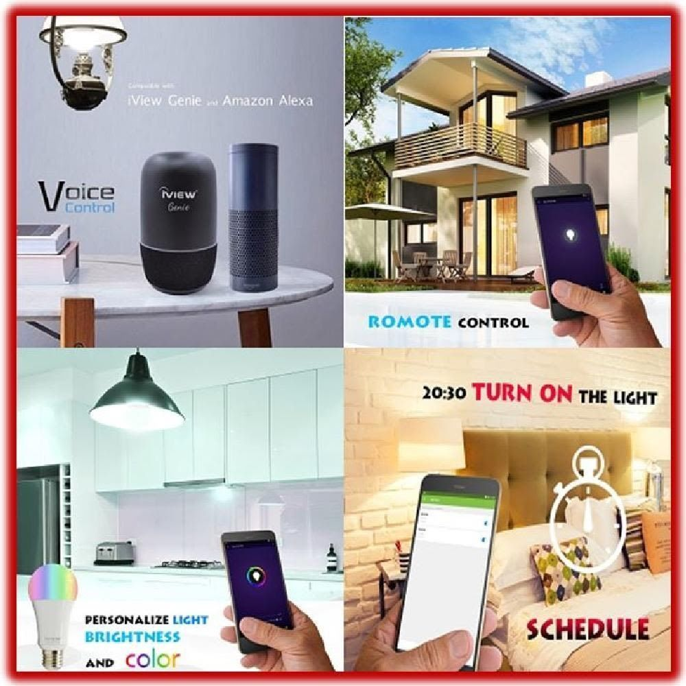 Iview Smart Wifi Led Light Bulb Lamp Remote Control Alexa Compatible Home Device Iview Led Light Bulb Bulb Light