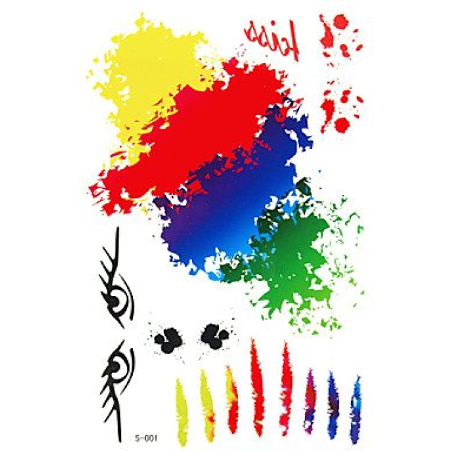 HJLWST 1 Pc Colorful and Creative Pattern Temporary Tattoo Stick Keeping 7 Days ** Visit the image link more details. (This is an affiliate link) #Makeup