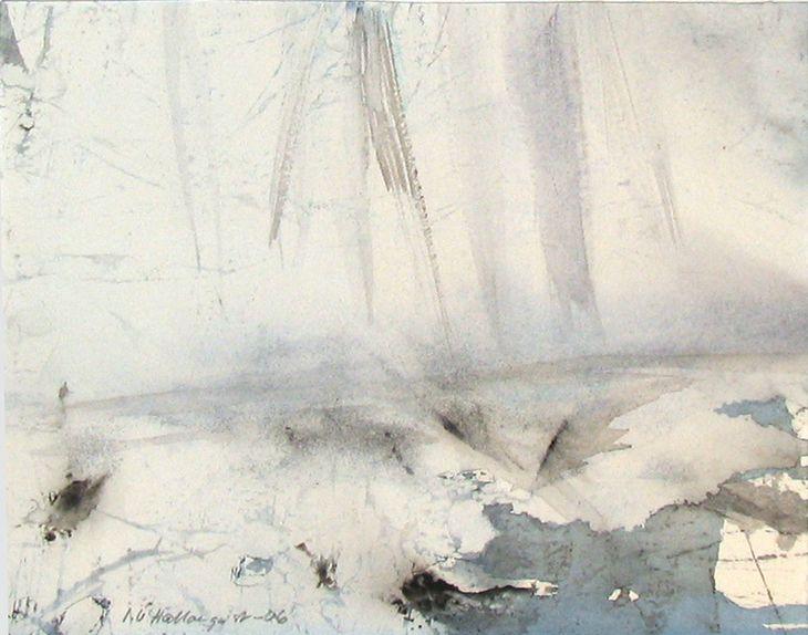 Ingela Ullberg Hallonquist Winter Morning Watercolour
