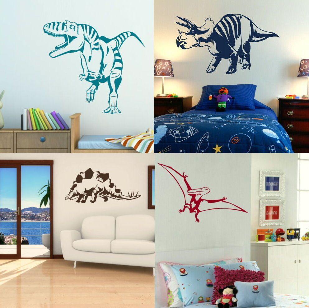 dinosaur wall stickers boys dino bedroom art lads room on wall stickers for bedroom id=21243