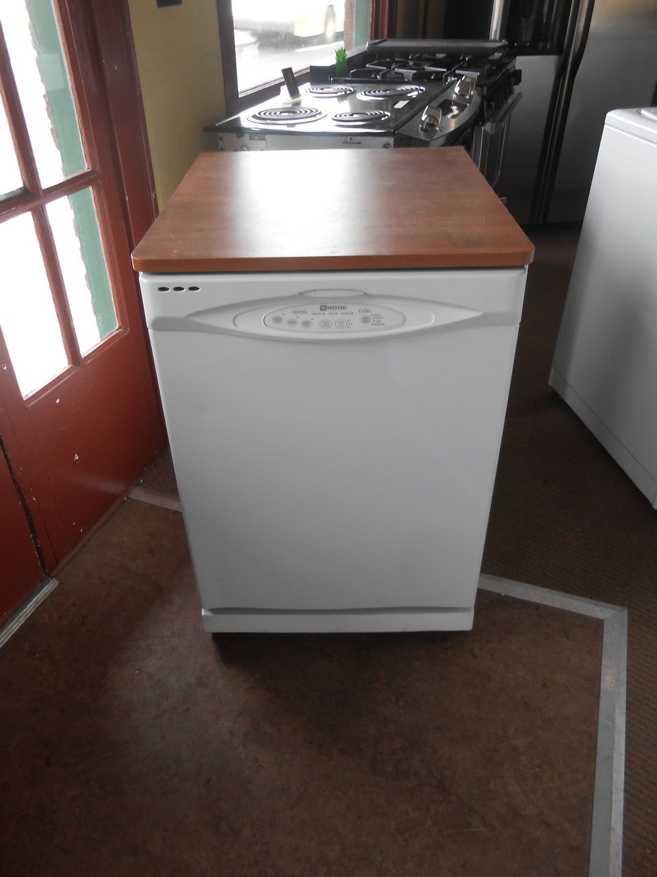 Appliance City Maytag Portable Dishwasher 3 Cycle Plus Rinse Only Hi Temperature Wash Option Delayed