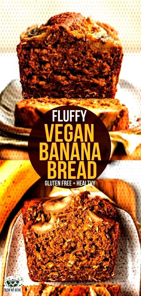 bread - New Ideas - bread Fluffy Vegan Banana Bread This vegan banana bread is fluffy, gl -Fluffy