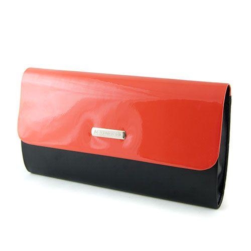 Czarno Koralowa Wizytowa Torebka Kopertowka Hit 2549082473 Oficjalne Archiwum Allegro Continental Wallet Wallet