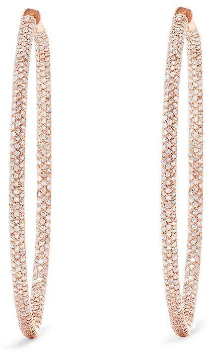 0c5b2ffdf3a0 14K Rose Gold Diamond Large Hoop Earrings, 1.91 TCW | Jewelry in ...