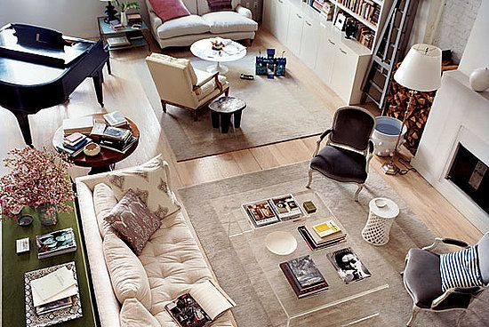 Casa Interview Part Ii Domino Founding Editor Deborah Needleman And An Awesome Giveaway Livingroom Layout Long Living Room Room Layout