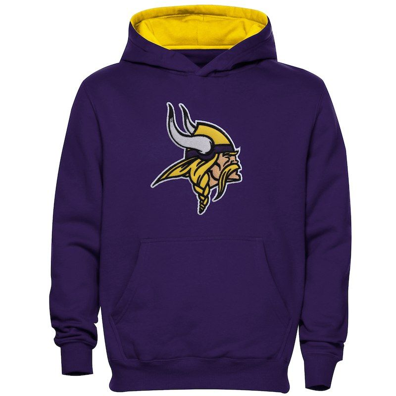 Hot Minnesota Vikings Preschool Fan Gear Primary Logo Pullover Hoodie