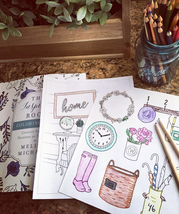 The Inspired Room Coloring Book - An Interior Design Coloring Book