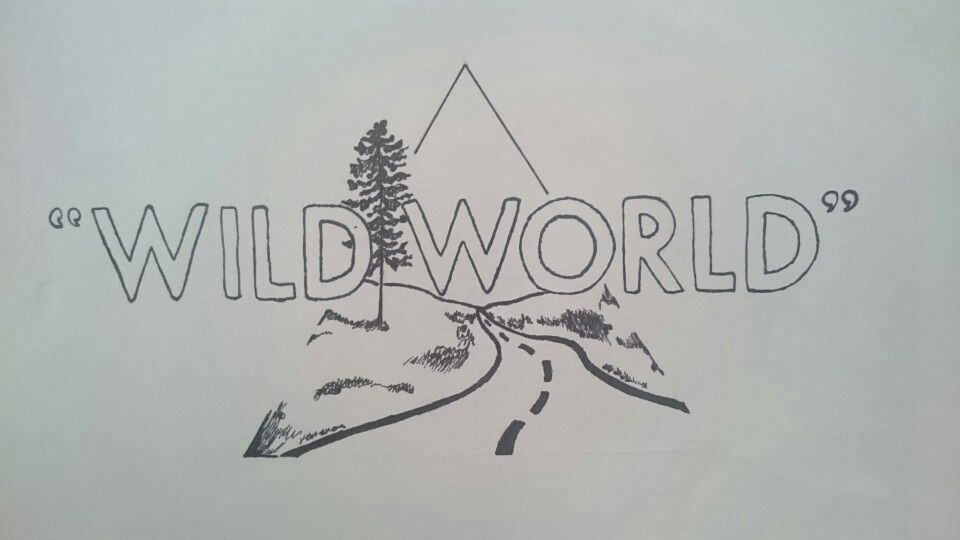 One Line Art Quotes : Bastille wild world fan art triangle drawing for my room