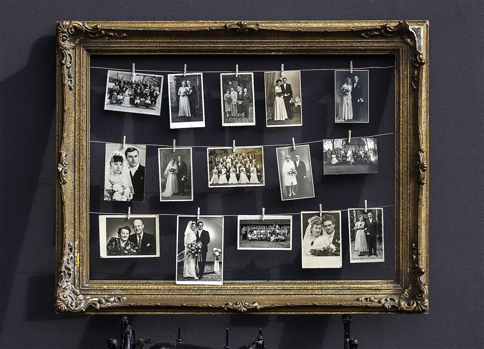 historische hochzeitsfotos verschiedene bilderrahmen in unterschiedlichen gr en. Black Bedroom Furniture Sets. Home Design Ideas