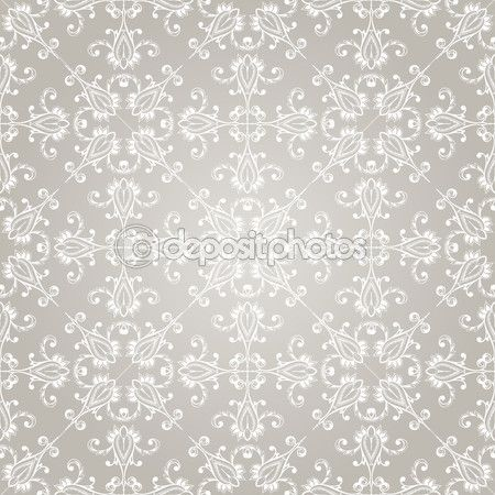 Vintage Wallpaper Seamless Pattern | Vector Seamless Vintage Wallpaper Pattern — Stock Illustration ...