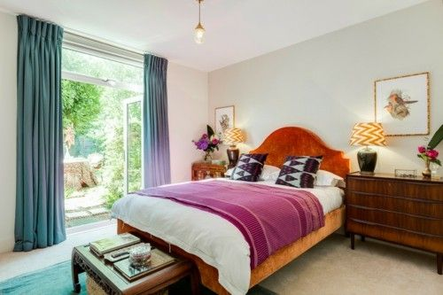 Vintage Schlafzimmermöbel ~ Ideen schlafzimmer eklektisch farbige textilien vintage elemente