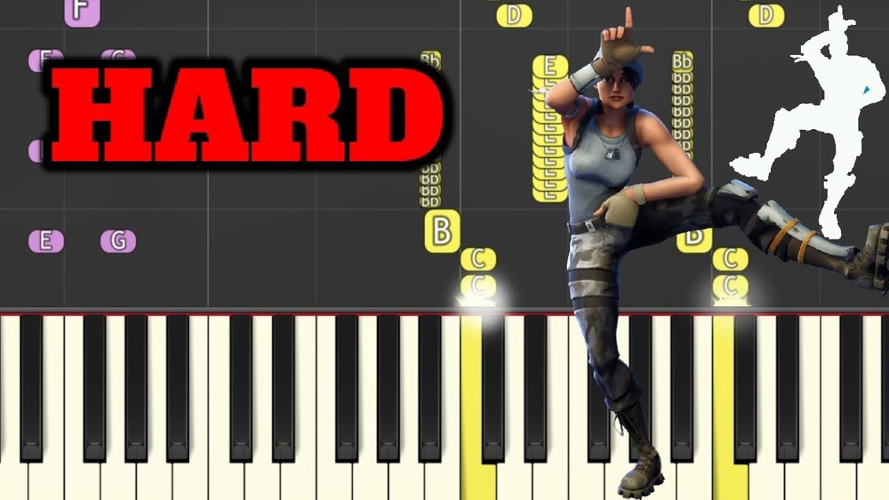 take the l fortnite dance hard piano tutorial by simple piano how to play - fortnite music notes tutorial