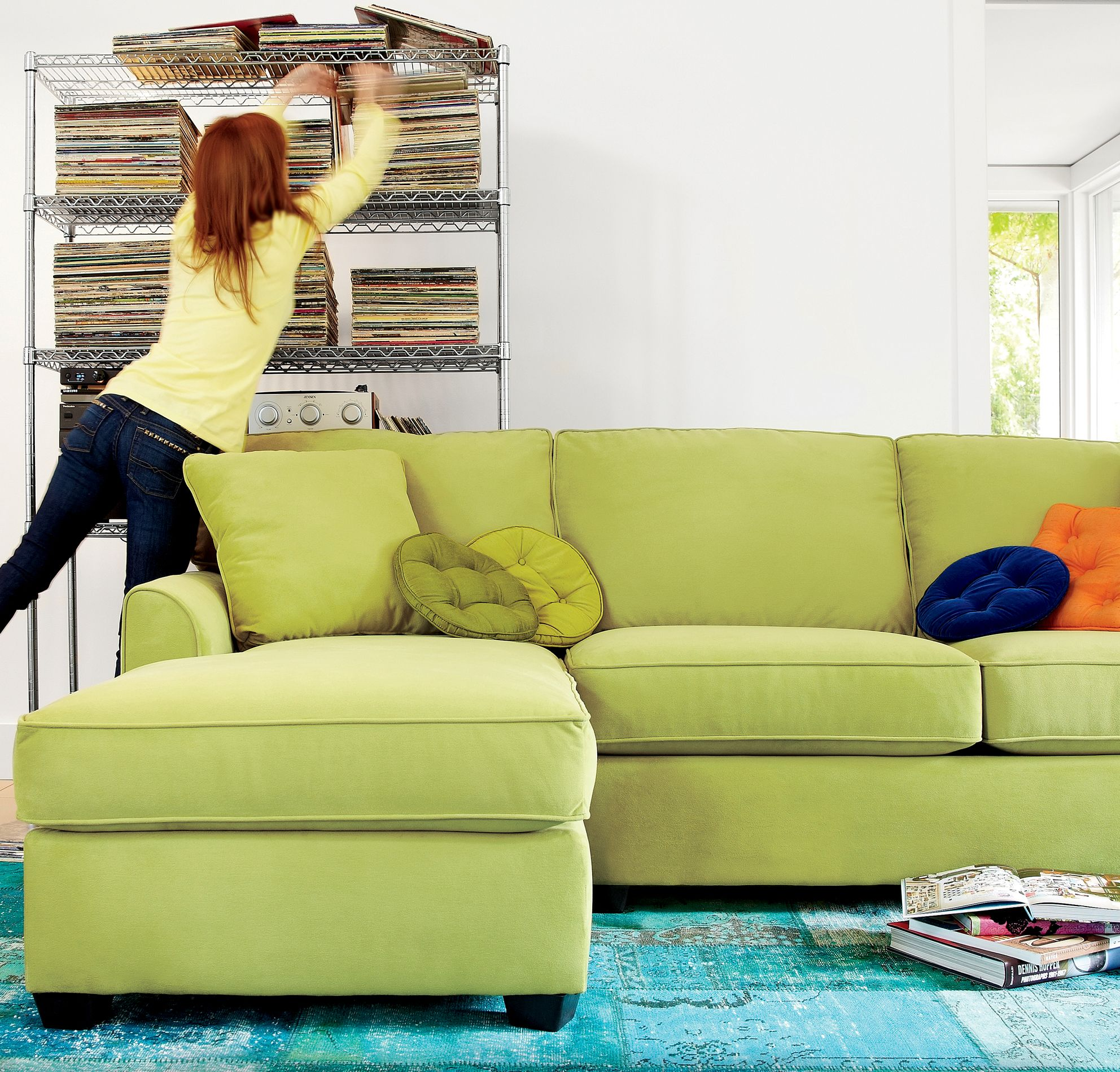 love this couch with pops of color from throw pillows! | Dream Home ...