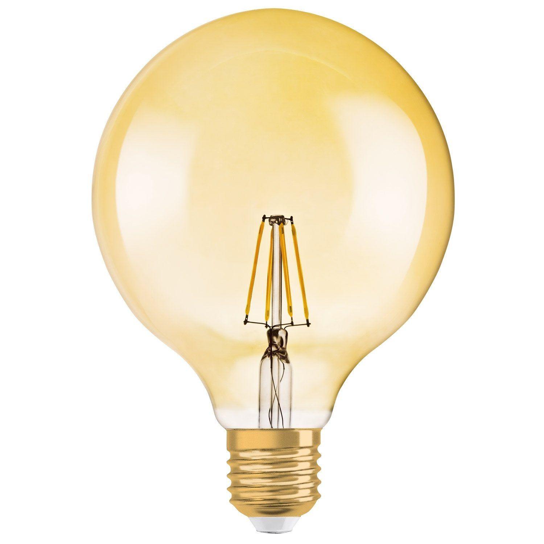 Ampoule Decorative Led Ambre Globe 125 Mm E27 650 Lm 51 W Blanc Chaud Osram Lampe Led Ampoule Led E27 Et Bulbes