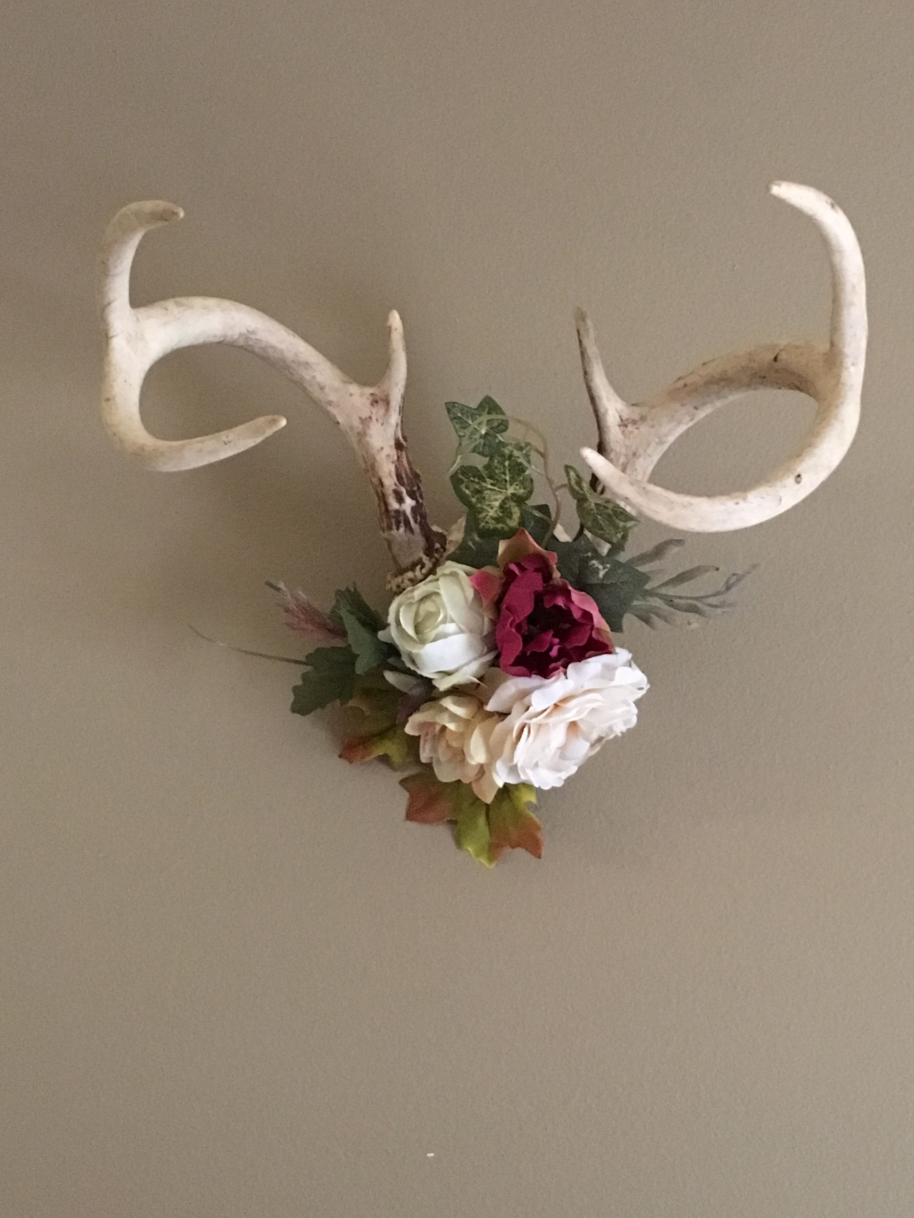 Deer Antlers With Flowers Floral Lupine Ridge