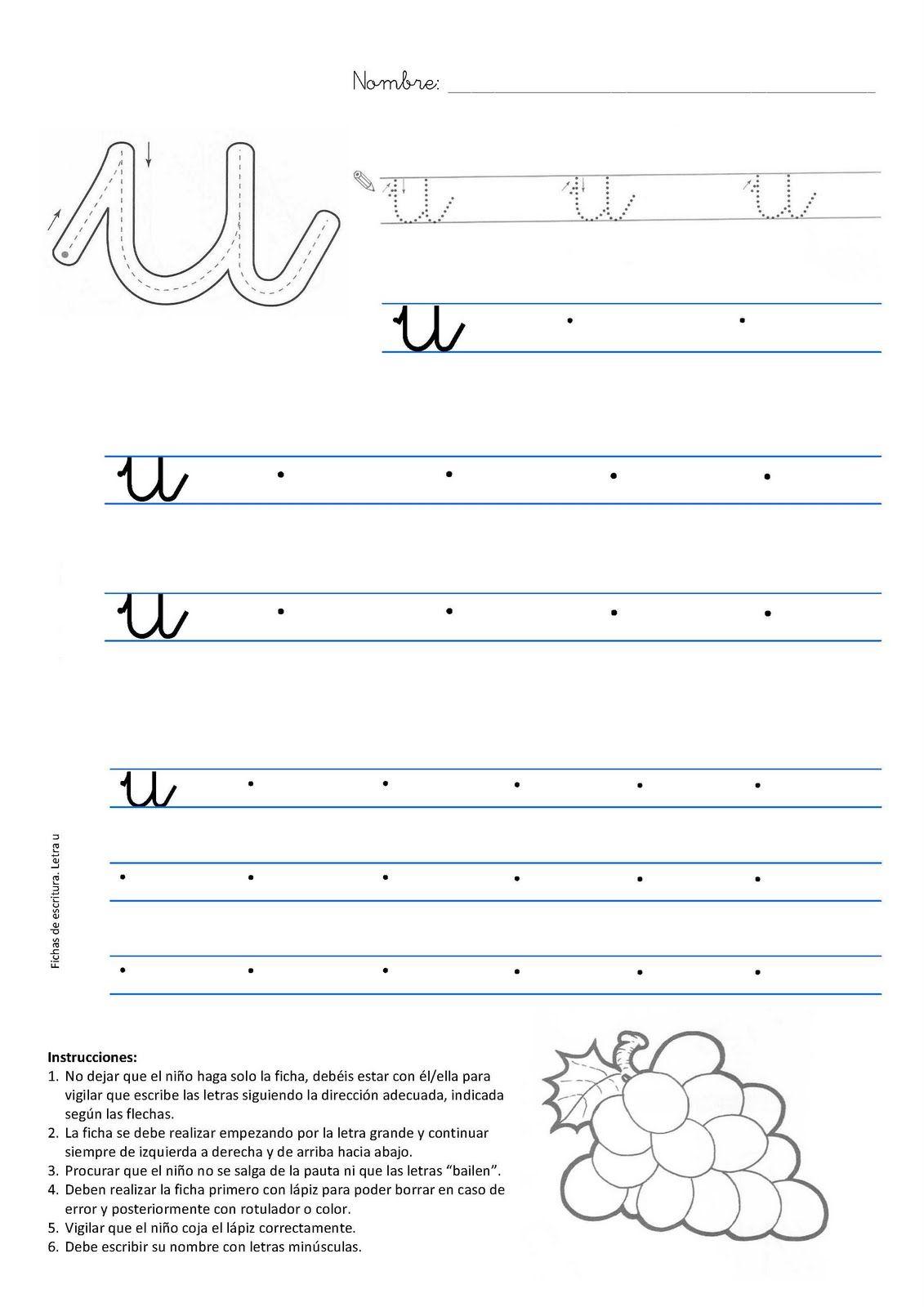 Caligrafia letra u  Atividades  Pinterest  Caligrafa Letras y