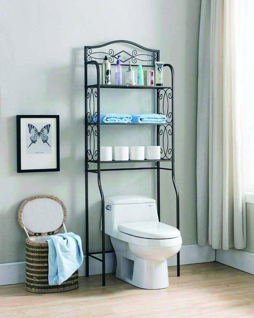 Marvelous Over The Toilet Storage Walmart To Inspire You Bathroom Storage Solutions Bathroom Rack Toilet Storage