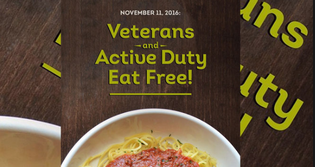 Olive Garden Veterans Day Discount Savings for the Whole