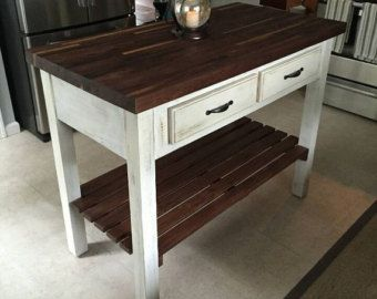 "Kitchen Island 60 X 36 forever joint red oak butcher block counter top 1-1/2"" x 36"" x 60"