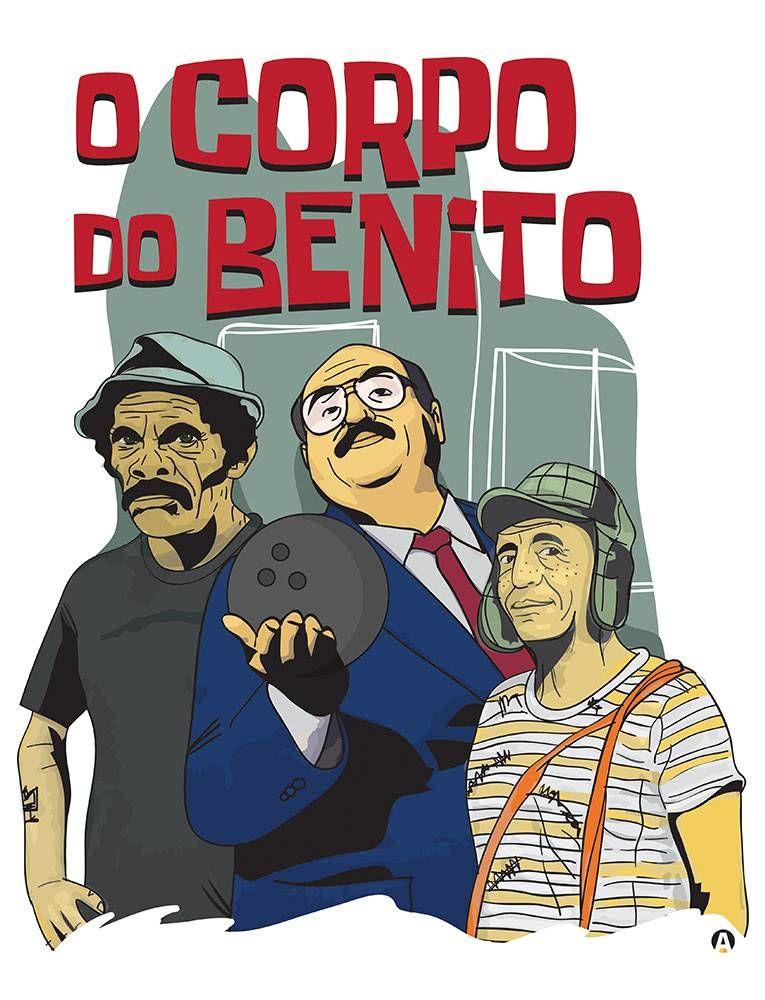 2f68fde7c CAMISETA CHAVES CORPO DO BENITO - Mitou Camisetas. Produto disponível nas  cores brancas e cinzas