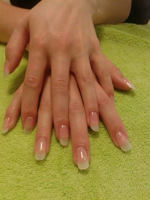 Tips With Gel Overlay Gel Overlay Nails Overlay Nails Natural Acrylic Nails