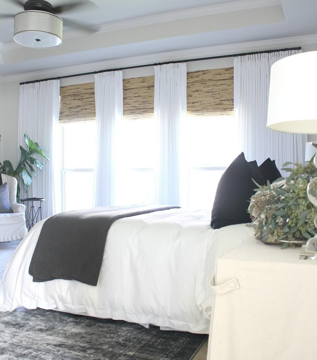 3 window bedroom  top  window covering trends on instagram  the finishing touch