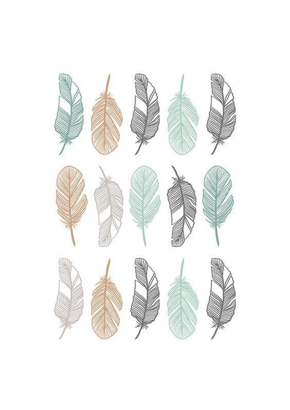 affiche scandinave plumes produit num rique beau pinterest numeriques plumes et affiches. Black Bedroom Furniture Sets. Home Design Ideas