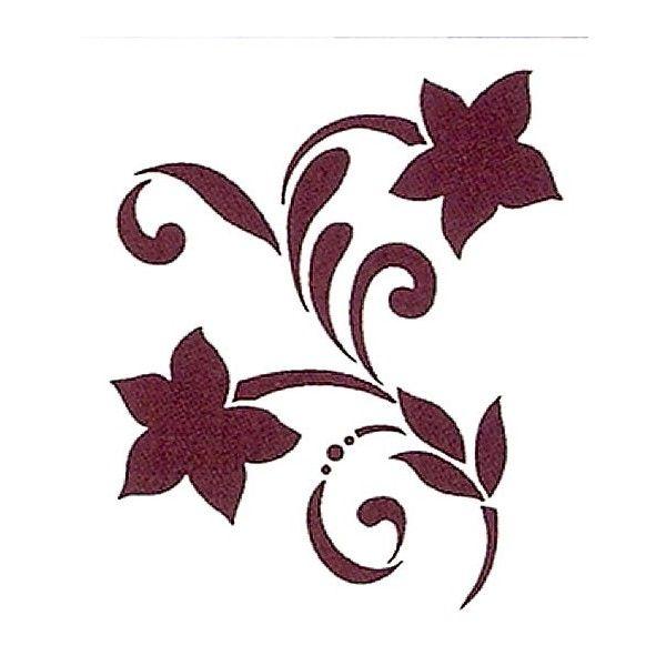 Plantilla para stencil rama dos flores stencil - Plantillas de letras para pintar paredes ...